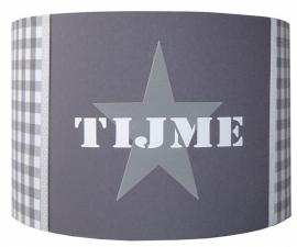 Kinderlamp met naam grijs Tijme