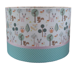 Kinderlamp little forest friends pastel