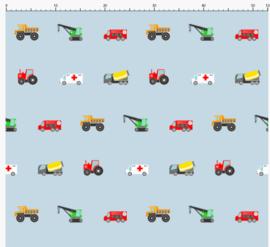 Kinderbehang voertuigen kleur