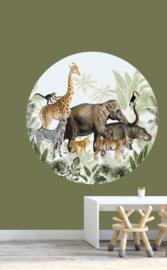 behangcirkel jungle parade