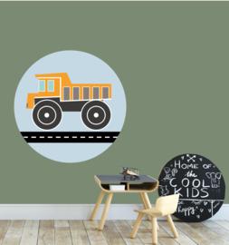 behangcirkel kiepwagen oranje