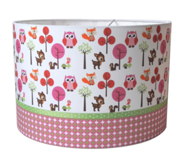 Kinderlamp forest friends pink