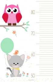 Groei Meter Poster Happy Animal