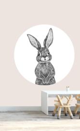 behangcirkel bosdieren konijn