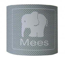 Wandlamp met naam olifantje mees