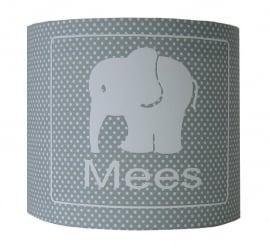 Kinderlamp met naam olifantje mees