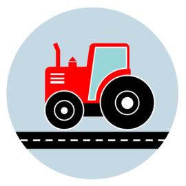 behangcirkel tractor rood
