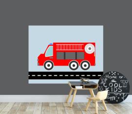 behangpaneel brandweer 180 x 140 cm