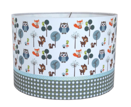 Kinderlamp forest friends blue
