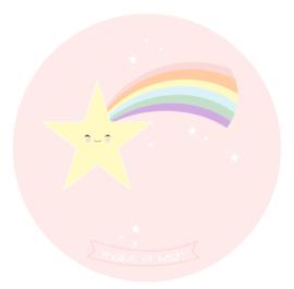 behangcirkel vallende ster