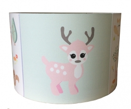 Kinderlamp forest friends pastel