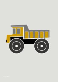 poster voertuig kiepwagen oker