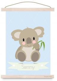 Poster koala met naam