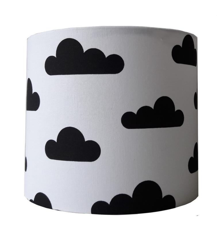Wandlamp wolk zwart wit