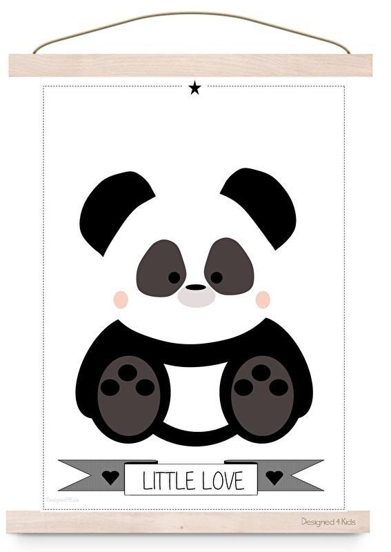 Poster panda little love