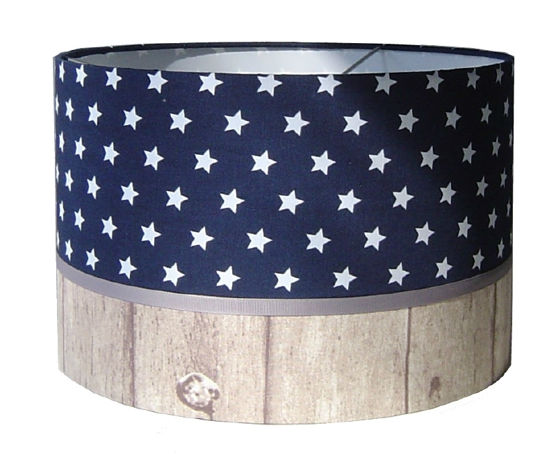 kinderlamp stars blue & wood