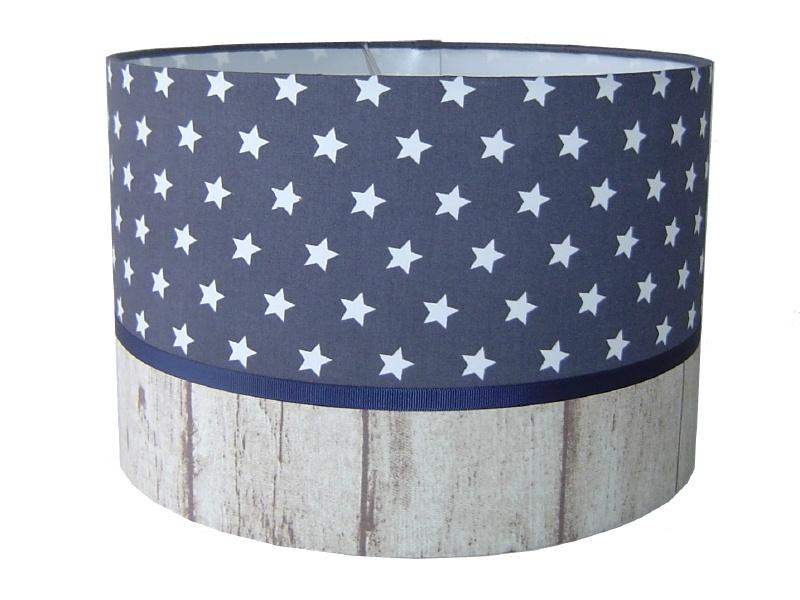 kinderlamp stars grijs & wood