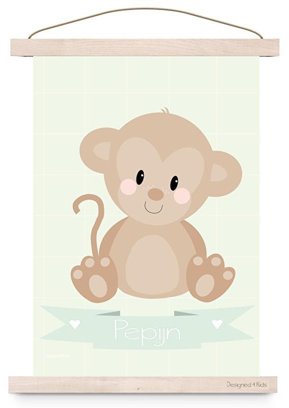 Poster aap met naam