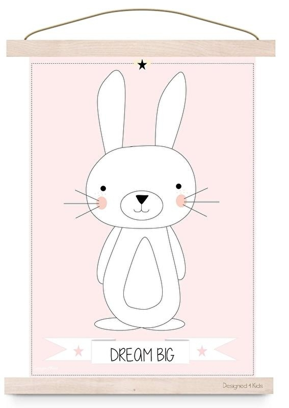 Poster konijn dream big