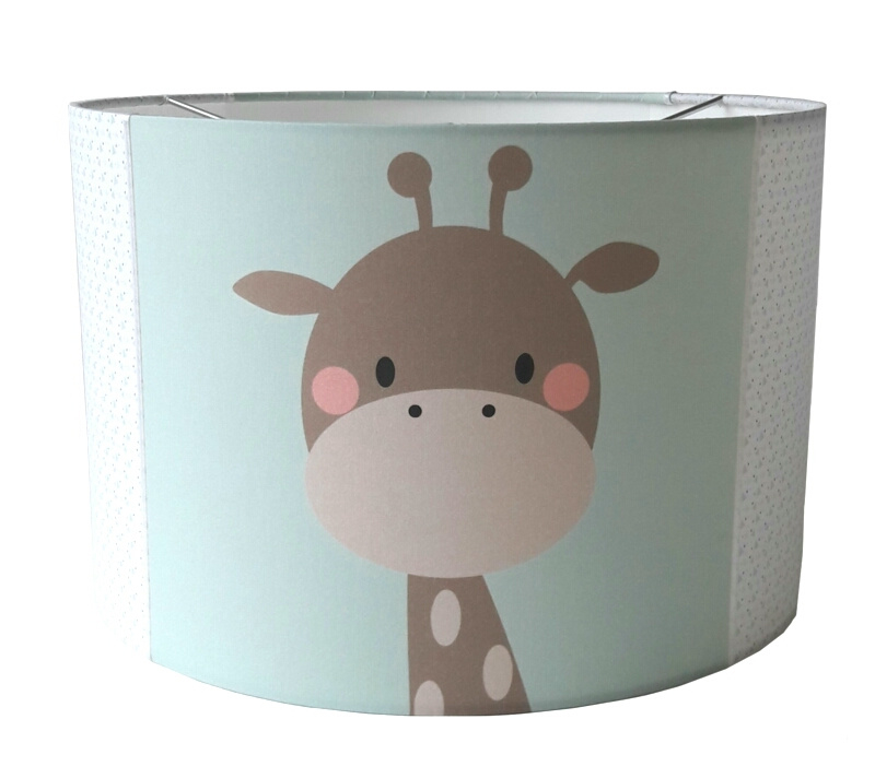 Kinderlamp giraffe + beertje mint