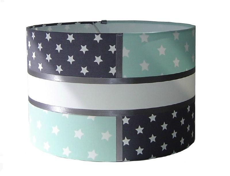 kinderlamp stars mint en grijs