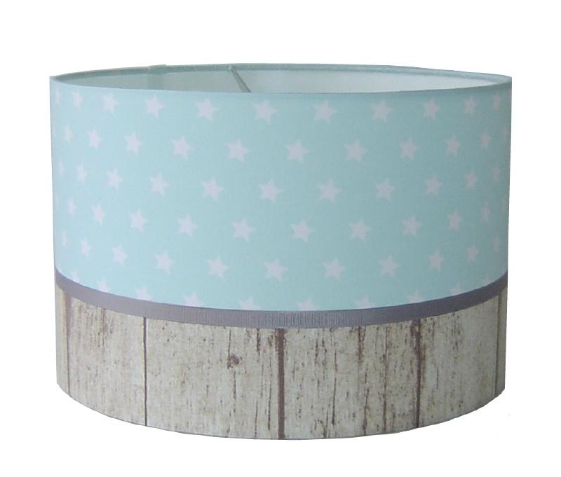kinderlamp stars mint & wood