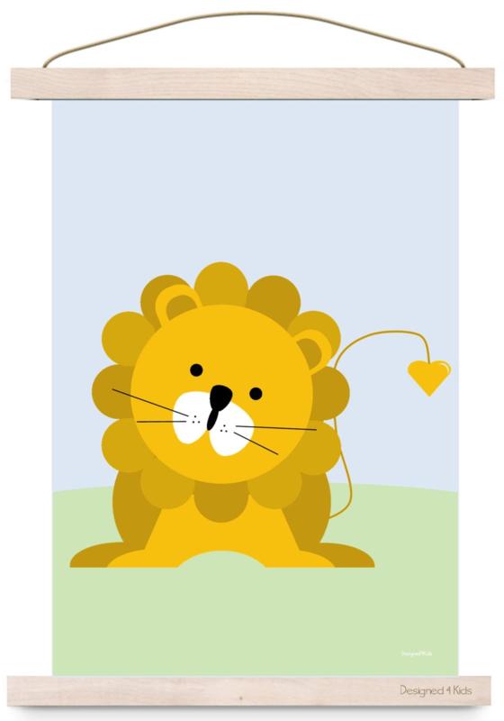poster  jungle leeuw d4k