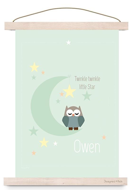 Poster met naam twinkle boy
