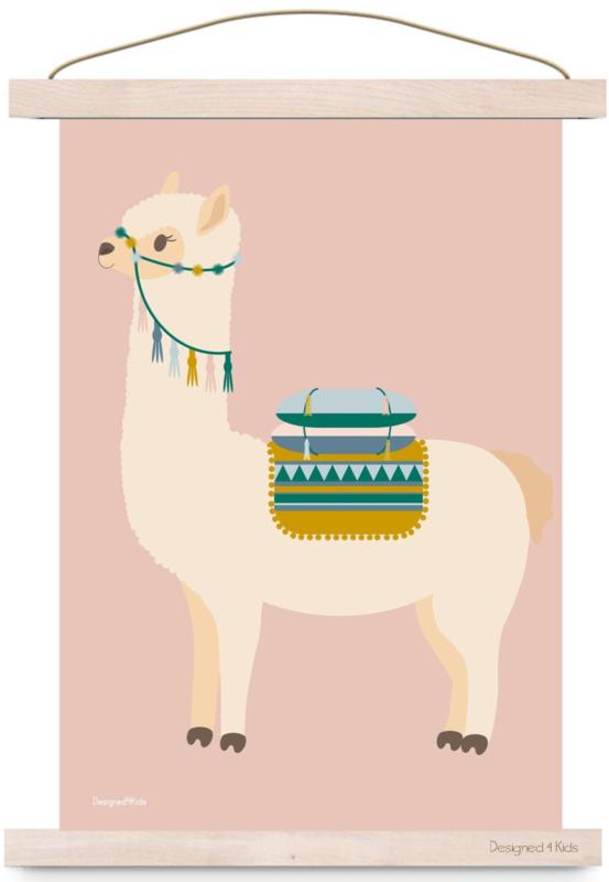 Poster Lama beige