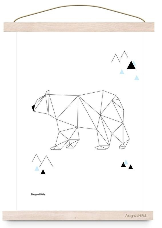 poster geometric polar bear