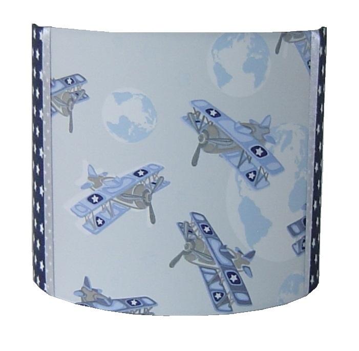 Wandlamp vliegtuigen blauw