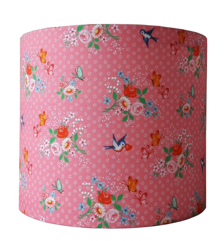 Wandlamp Sweet birds pink