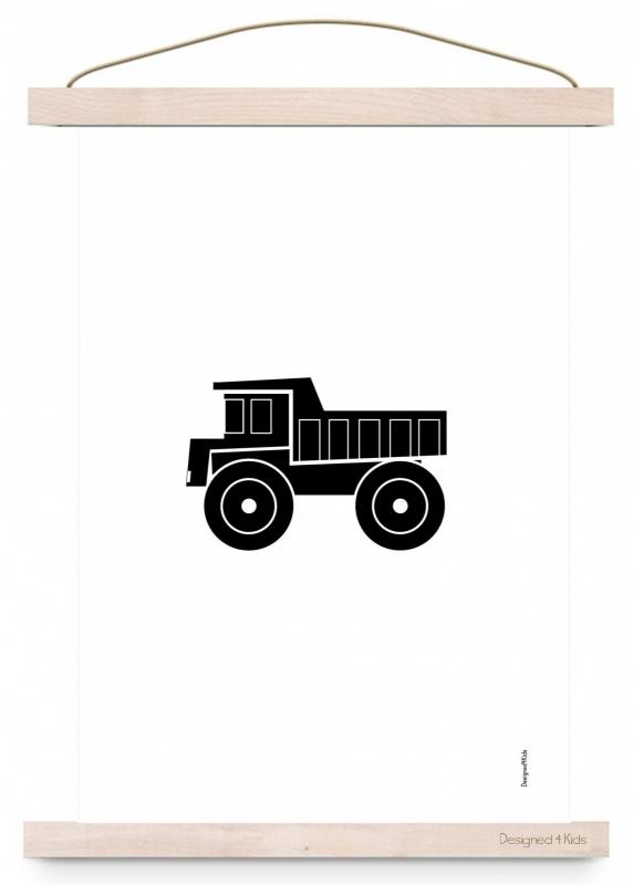 Poster monochrome kiepwagen