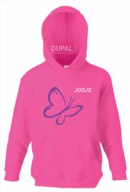 fuchsia hooded sweater