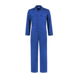 Overall kobaltblauw