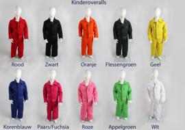 Kinderoverall in 9 kleuren