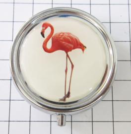 PIL 407 pillendoosje met spiegeltje flamingo