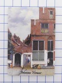 MAC:20.305  koelkastmagneet Johannes Vermeer straatje