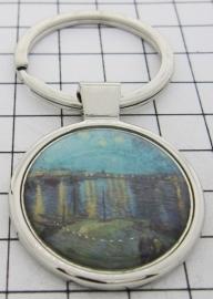 SLE412 Sleutelhanger Sterrennacht water Vincent van Gogh