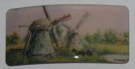 HAR 009 haarspeld rechthoek molen met koe in boot