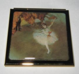 Spiegeldoosje witte danseres van Edgar Degas