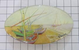HAO 414 Haarspeld ovaal bootjes Vincent van Gogh
