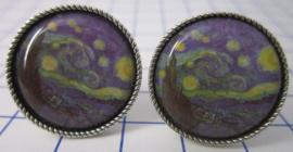 MAK 009 Manchetknopen Vincent van Gogh sterrennacht