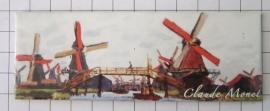 koelkastmagneet Molen Claude Monet Zaanse Schans Mac21.215