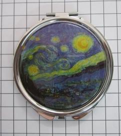 SPI 205  Spiegeldoosje Sterrennacht,  Vincent van Gogh