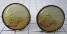 MAK 018 Manchetknopen Vincent van Gogh boten