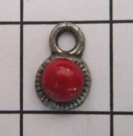 ZB022-R Zeeuwse knop met rode emaille