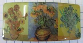 HAR414 Haarspeld rechthoek 8 cm speld Vincent van gogh