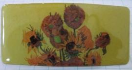 HAR 205 haarspeld rechthoek nieuwe zonnebloemen Vincent van Gogh