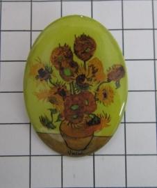 BRO 800 broche felgele zonnebloemen van Gogh